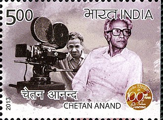 Chetan Anand (director) - Anand on a 2013 stamp of India