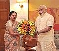 Chief Minister of Gujarat Anandiben Patel with Prime Minister Narendra Modi.jpg
