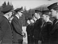 Chief of Combined Operations on Visit of Inspection. 6 March 1943, at HMS Armadilla and HMS Pascoe, Lord Louis Mountbatten Chief of Combined Operations Inspect Units of His Command. A15109.jpg