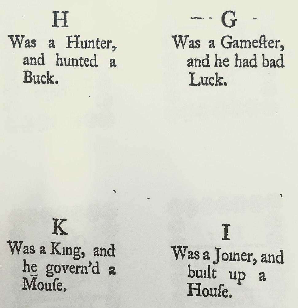 Childs new plaything 1743 alphabet