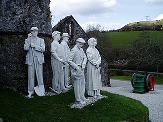 China stone - Life size china clay sculptures outside the Wheal Martyn China Clay Museum, St Austell