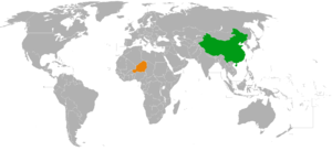 China–Niger relations - Image: China Niger Locator