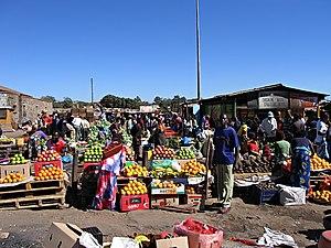 Chisokone Market in Kitwe/Zambia