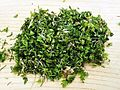 Chopped naengi (Capsella bursa-pastoris).jpg