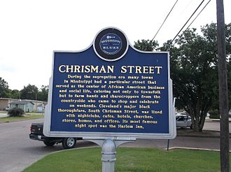 Cleveland, Mississippi - Chrisman Street Mississippi Blues Trail Marker