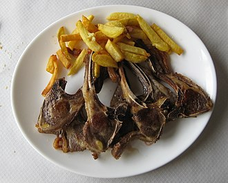 Lamb and mutton - Chuletillas of milk-fed lamb in Asturias