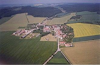 Cidlina (Třebíč District) - Image: Cidlina letecky snimek