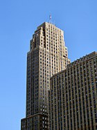 The Carew Tower not only is the tallest building in Cincinnati, but it also is a great example of French Art Deco.