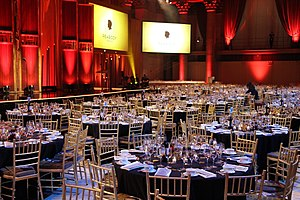 55 Wall Street - 55 Wall Street ballroom prepared for the 74th Annual Peabody Awards