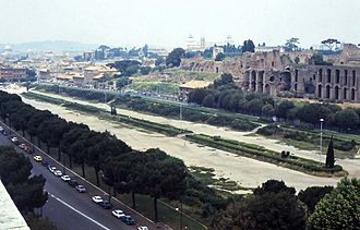 Circus Maximus - Modern (1978) view of the Circus site from the south-east