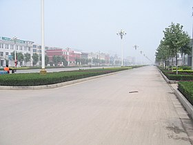 Street on the east of Bazhou Railway Station