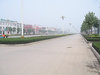 Bazhou, Hebei - Street on the east of Bazhou Railway Station