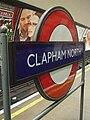 Clapham North stn roundel.JPG