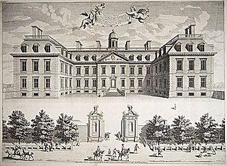 Belton House - Clarendon House, London, designed by Roger Pratt, was the inspiration for Belton House. Clarendon House is in the same vogue, though less Baroque in ornament, as Vaux-le-Vicomte built in France just a few years earlier.