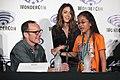 Clark Gregg & Chloe Bennet with attendee (26107772896).jpg
