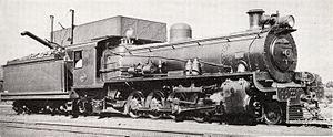 South African Class 14C 4-8-2, 2nd batch - No. 1894, as built with a Belpaire firebox, c. 1945