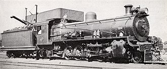 South African Class 14C 4-8-2, 2nd batch - No. 1894, as built with a Belpaire firebox, c. 1945