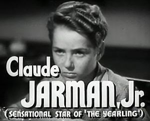 Claude Jarman Jr. - from the trailer for the film High Barbaree (1947)