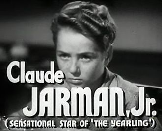 Claude Jarman Jr. - Jarman Jr. in the trailer of the film High Barbaree (1947)