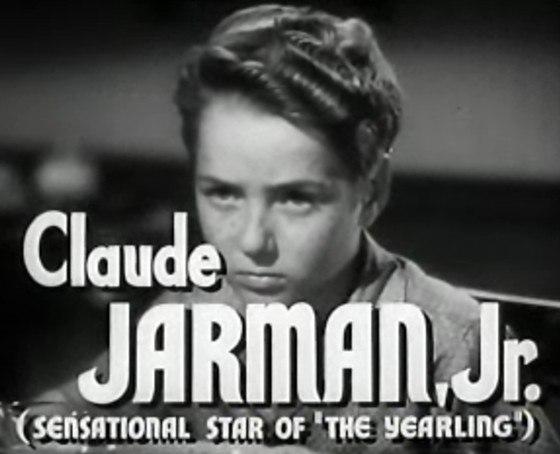 Claude Jarman Jr in High Barbaree trailer