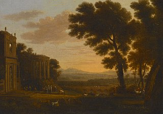 Landscape with the Father of Psyche Sacrificing at the Milesian Temple of Apollo