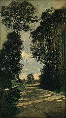 La route de la ferme Saint-Siméon
