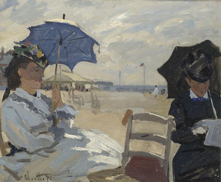 La plage de Trouville de Monet en 1870.