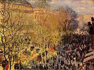 Paris Carnival - Claude Monet, Carnaval boulevard des Capucines, 1873
