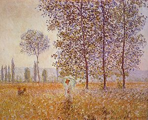 Poplars (Monet series) - Image: Claude Monet 041 (Poplars in the Sun, 1887)
