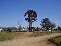 Clava symbol in Cañete, Chile.JPG