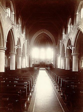 Claybury Hospital - Image: Claybury Asylum, Woodford, Essex; the Chapel. Photograph by Wellcome L0027366