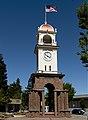 Clocktower in Santa Cruz, the county seat and largest city of Santa Cruz County, California (highsm.21617).jpg