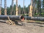 CO-Pipeline-Baustelle bei Ratingen