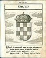 Coat of Arms of Croatia from Stemmatographia by Hristofor Zhefarovich (1741).jpg