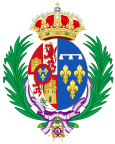 Coat of Arms of Mercedes of Orléans, Queen Consort of Spain.svg