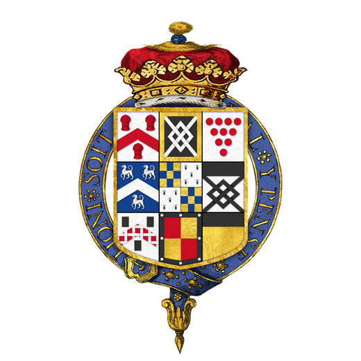 Quartered arms of John Sheffield, 1st Duke of Buckingham and Normanby, KG Coat of arms of John Sheffield, 1st Duke of Buckingham and Normanby, KG.png