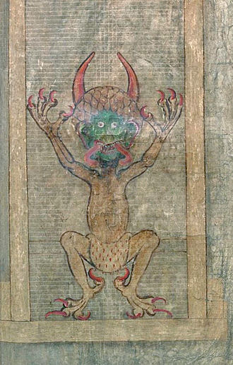 Codex Gigas - Illustration of the devil, Folio 290 recto.