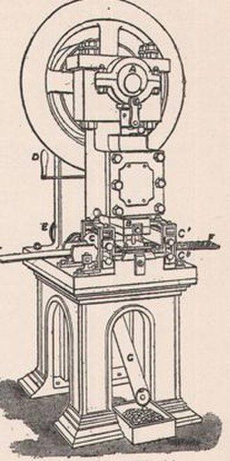 Mint (facility) - A 19th-century coining press