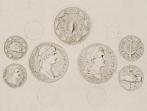 Coins of Antiochus IV Epiphanes of Commagene and his wife Julia Iotapa - Stuart James & Revett Nicholas - 1794.jpg