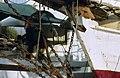 Collectie NMvWereldculturen, TM-20020648, Dia, 'Anker van een Buginese prauw in de haven Sunda Kelapa', fotograaf Henk van Rinsum, 1980.jpg