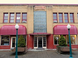 National Register of Historic Places listings in Stevens County, Washington - Image: Collins Building entry Colville Washington