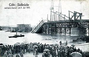 South Bridge (Cologne) - Collapse of the South Bridge on 9 July 1908
