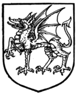 Fig. 425.—Dragon passant.