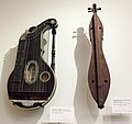 Concert zither (1908-1909) by Franz Schwarzer, Washington, Missouri, and Appalachian dulcimer (1923) by Jethro Amburgey, Hindman, Kentucky - MIM PHX.jpg