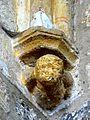 Condécourt (95), église Saint-Pierre-ès-Liens, chœur, cul-de-lampe dans l'angle nord-ouest.JPG