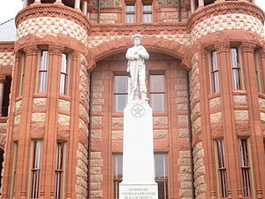 Waxahachie, Texas - The United Daughters of the Confederacy Monument was unveiled in 1912 at the Ellis County Courthouse in Waxahachie.