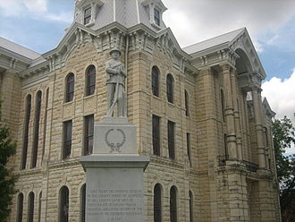 Hill County, Texas - Confederate memorial at Hill County Courthouse