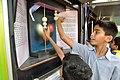 Conservation of Momentum - Exhibit with Schoolboys - MSE Golden Jubilee Celebration - Science City - Kolkata 2015-11-19 5780.JPG