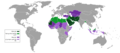 Constitutions of Muslim majority countries based on their religion status-ar.png