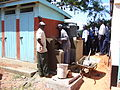 Construction of hand washing unit (5324347204).jpg